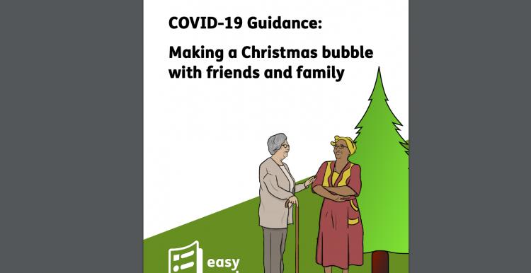 easy read guidance christmas bubble