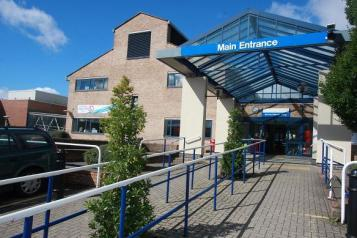 Kingston Hospital entrance
