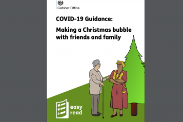easy read guidance christmas bubble
