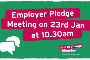 Image with speech bubbles and 'Employer Pledge meeting 23rd Jan 10.30am'