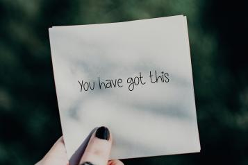 You got this written on piece of paper