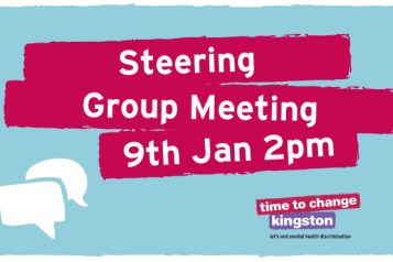 Image with speech bubbles and 'Steering Group Meeting 9th Jan 2pm'