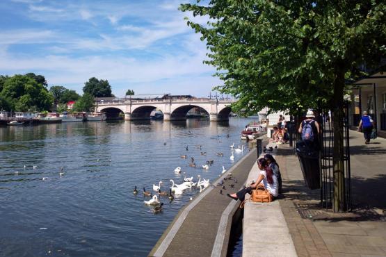 Kingston bridge and river